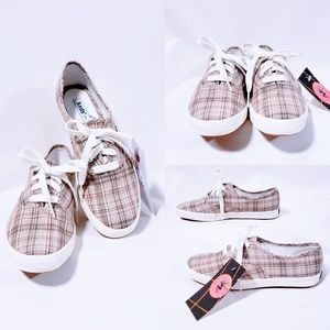 Keds Shoes - Keds original. Khaki & Plaid  size 6🆕️🦄